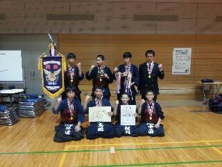 剣道27年度中学男子新人県優勝