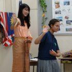 文化祭 留学生2名による「プレゼンテーション」を実施