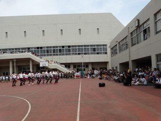 文化祭 中庭