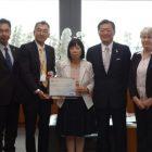 山口副知事を表敬訪問「IBワールドスクール 認定」を報告