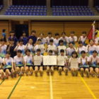中学バドミントン部 男女ともに団体優勝しました