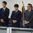 高校ラグビー部 茨城県庁を訪問し全国大会出場を報告